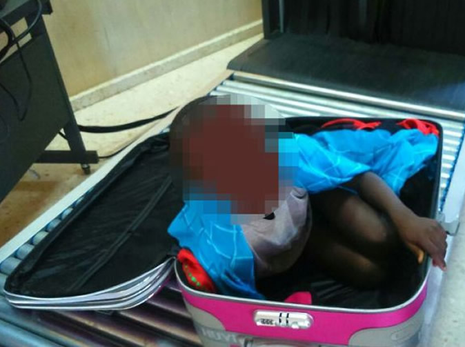 Immigration officials find 8-year-old boy in suitcase