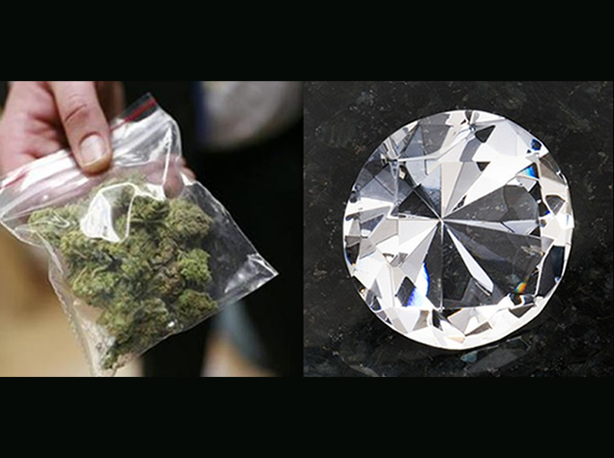 Thief exchanges $160,000 diamond for $20 bag of weed