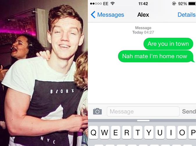 Teen gets so drunk, replies his own text message