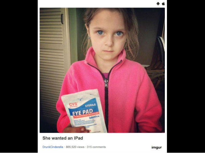 Girl who asked parents for an iPad was not happy with what she received