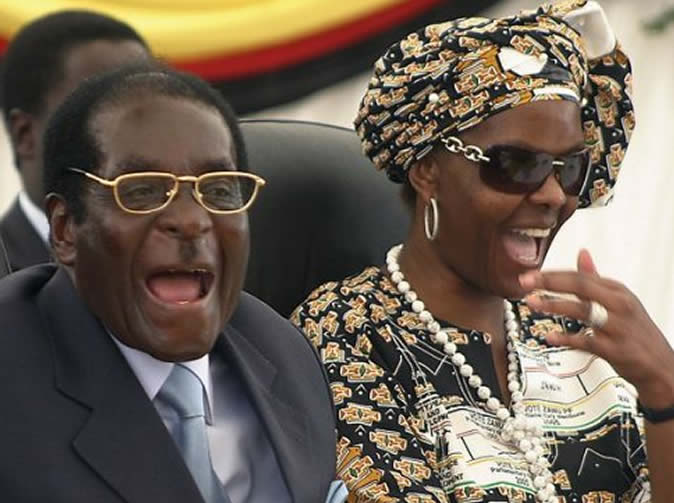 'I'm in charge' says Grace Mugabe as she hands out raincoats in drought-ridden Zimbabwe