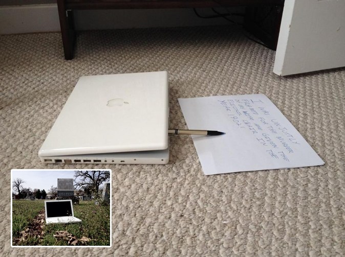 'Haunted' laptop 'hand writes' messages from beyond the grave
