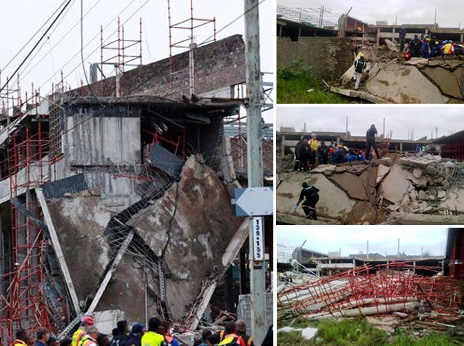 South Africa mall collapses, first death reported