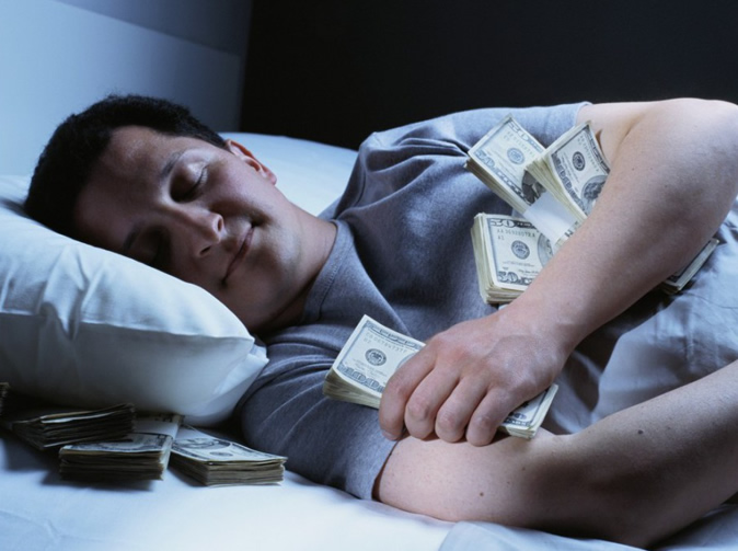 Man gets $18,000 to stay in bed