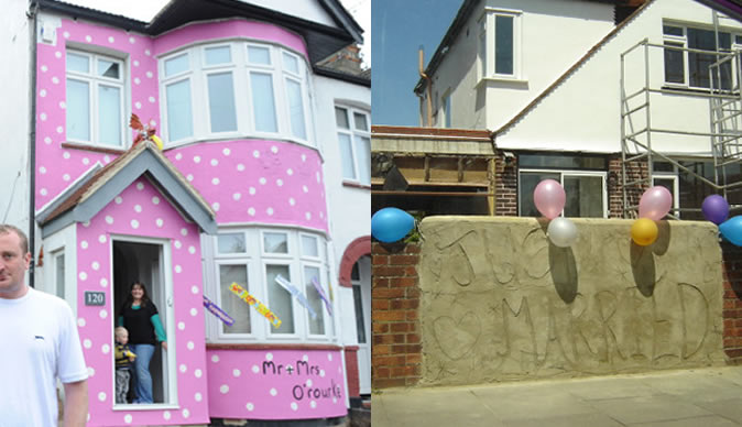 House gets shocking makeover while couple is away on honeymoon