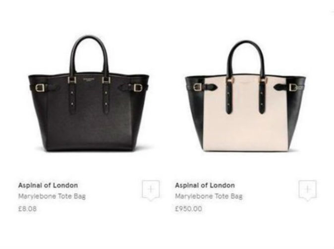Harrods accidentally sold £1,000 bags for less than £10
