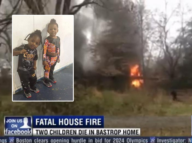 Children die in fire after mom leaves them alone to get hair done