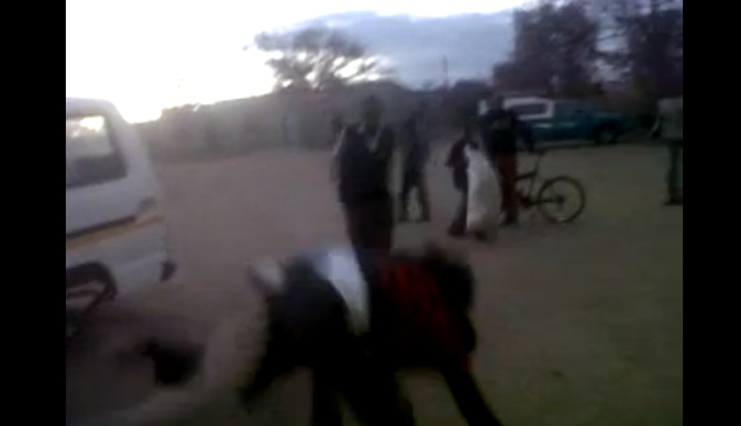 Men in messy fight over memory card: Video
